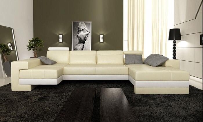 Free Shipping Nice Sofas New Modern Design Sofa U Shaped Corner Genuine  Leather Sofa white Real. Popular European Design Furniture Buy Cheap European Design