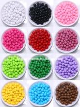 Opaco misturado acrílico plástico liso bola redonda espaçador grânulos 6 8 10 mm escolher tamanho para fazer jóias ac7