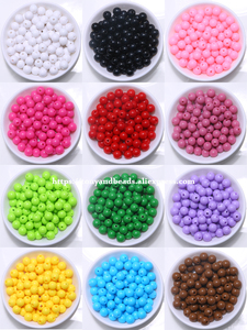 Free Shipping Opaque Mixed Acrylic Plastic Smooth Round Ball Spacer Beads 6 8 10 MM Pick Size For Jewelry Making AC7(China)