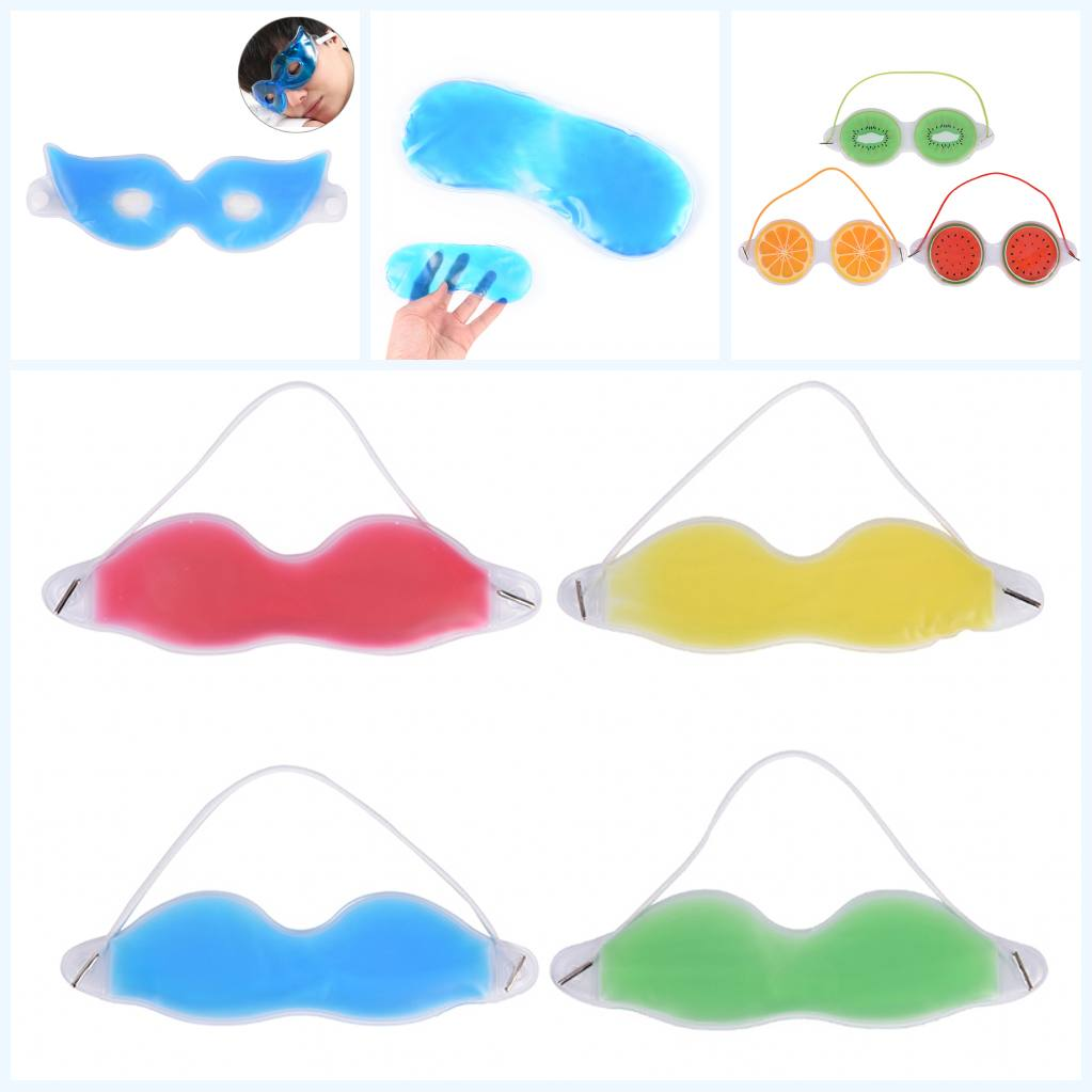1PC Ice Gel Eye Mask Sleep Rest Ice Pack Eye Patch Fatigue Relief Cooling Relax Shield Eye Care Mask Eye Shade Cooler Bag Cover
