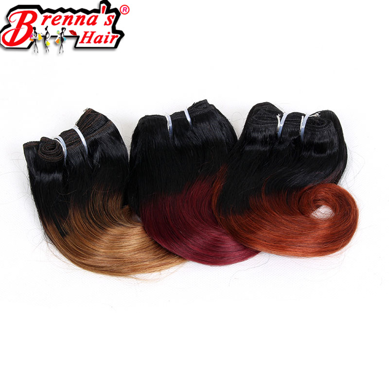 Eunice hair 8inch synthetic body wave short hair weaving ombre burgundy/613/350/blond/blue/purple/green/27/30 4 bundles/pack