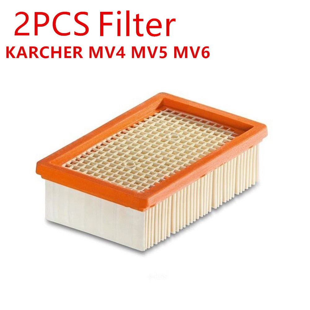 free shipping replacement KARCHER Flat-Pleated Filter for KARCHER MV4 MV5 MV6 wet and dry vacuum cleaner OEM#2.863-005.0 philips brl130 satinshave advanced wet and dry electric shaver