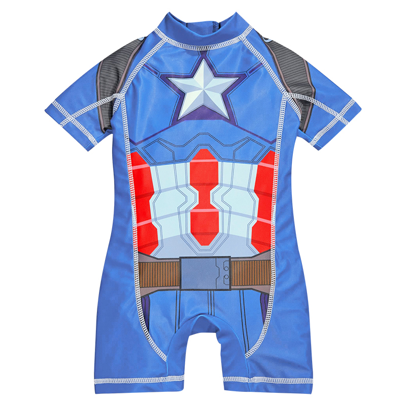 Kids Swimwear One Piece Boys Swimsuit Minions Batman Swimming Children Captain America Sport UPF50+ Beachwear Baby Bathing Suit