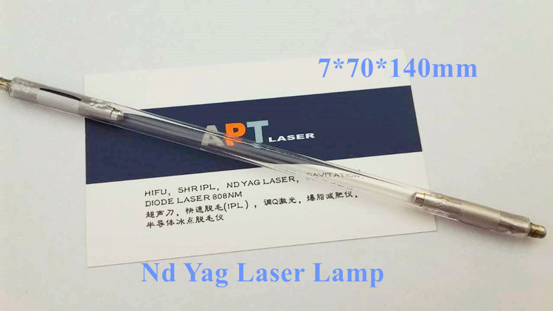 ND YAG laser xenon lamp 7 70 140 installed in q switched ND YAG handle handpiece