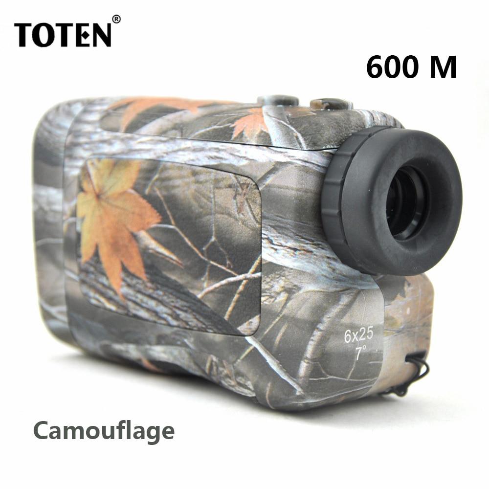TOTEN 6x25 600 M/Y Range Finder Monocular Distance Meter for Hunting/Golf Telemetro Rangefinders велотренажер kettler golf m 7661 600