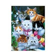 Cat Diamond Painting 5D Diy Cartoon 3D Embroidery Animal Cross Stitch Home D Photo