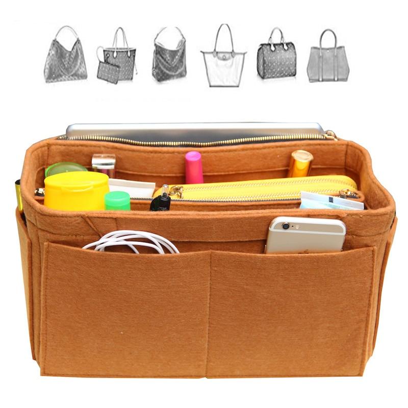 Anpassbare Fühlte Tote Organizerr Tasche In Tasche (w/Abnehmbare Fächer) für Handtasche Geldbörse Organizer Passt/Speedy/Neverfull