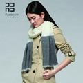 Бесплатная доставка Rainbo 2015 новый стиль осенью и зимой 100 S шерстяной шарф цветовой контраст большой пашмины