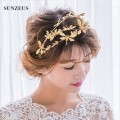 Beautiful Princess Gold Tiara Crown Dragonfly Wedding Hair Accessories For Brides SQ062