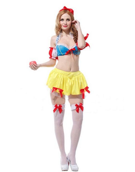 Online Shop Free shipping!!Sexy bikini appeal Snow White costume ...