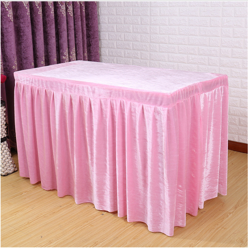 Hot Sale !!! 5pcs Pink velvet table skirt for Conference Office Table skirting Free Shipping Marious many sizes