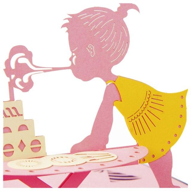3d Pop Up Kaarten Verjaardag Meisje Creatieve Geschenken Postkaart