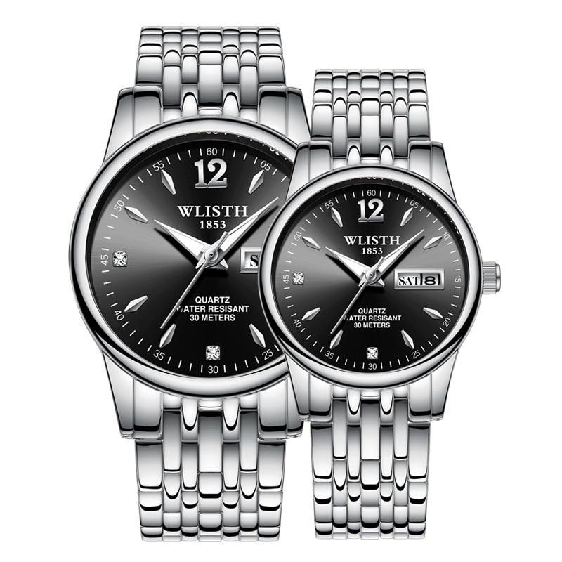 Couple Watches High-end Business Quartz Wristwatch For Women Watch Men Clock Stylish Waterproof Fashion Dress Watch Lovers Watch