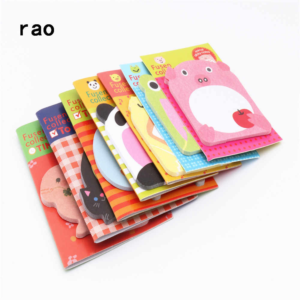 Charming 070 Animal Series Memo Pad Sticky Notes Bookmark Point It Sticker Paper office School Supplies Writing Pads Notebooks