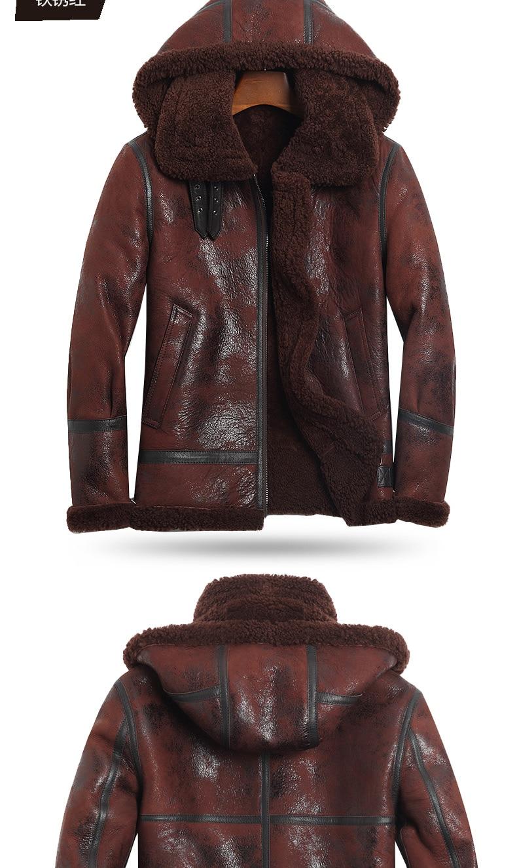 HTB1F6PYKXmWBuNjSspdq6zugXXa2 AYUNSUE Genuine Leather Jacket Men Winter Australian Natural Fur Real Sheepskin Coat for Men Lamb Fur Flight Men's Jackets KJ853