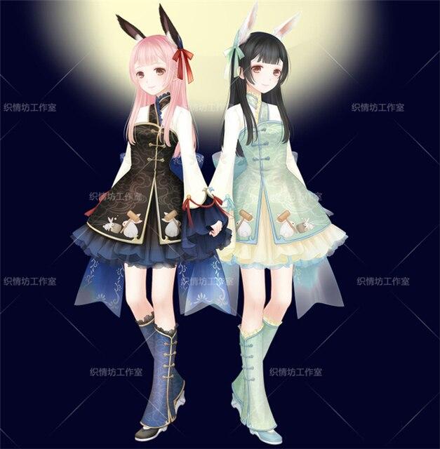 miracle nikki bunny girl cosplay costume halloween anime dress free