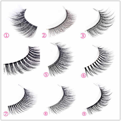 0d52128f7e1 ... 3 Pairs 100% Handmade Real Mink Fur False Eyelash 3D Strip Mink Lashes  Thick Fake ...