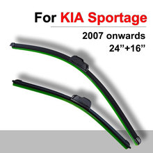Windscreen Wiper Blades For Kia Sportage from 2007 onwards 24″+16″ High Quality Natural Rubber Window Windshield Car Accessories