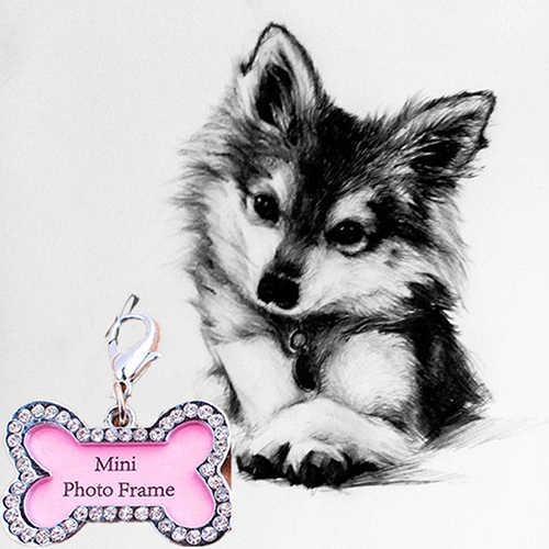 Knochen Form Haustiere ID Name Tag Adresse Anhänger Hund Welpen Kragen Anti-Verloren Karte Lebensraum Decor Hund Tag
