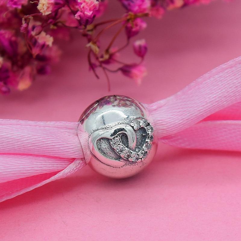 YANXIZAO 925 Zilver Hoge hakken Hartvorm Liefde Fit Pandora Armband - Mode-sieraden - Foto 5