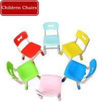 Children Chairs Kindergarten Backrest Chair Baby Plastic Multi Functional Chair Lift Children Home Thick Material Non