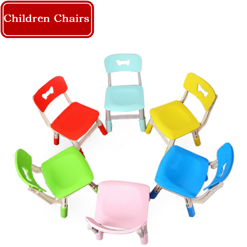 Children Chairs Kindergarten Backrest Chair Baby Plastic Multi-functional Chair Lift Children Home Thick Material Non-slip Stool