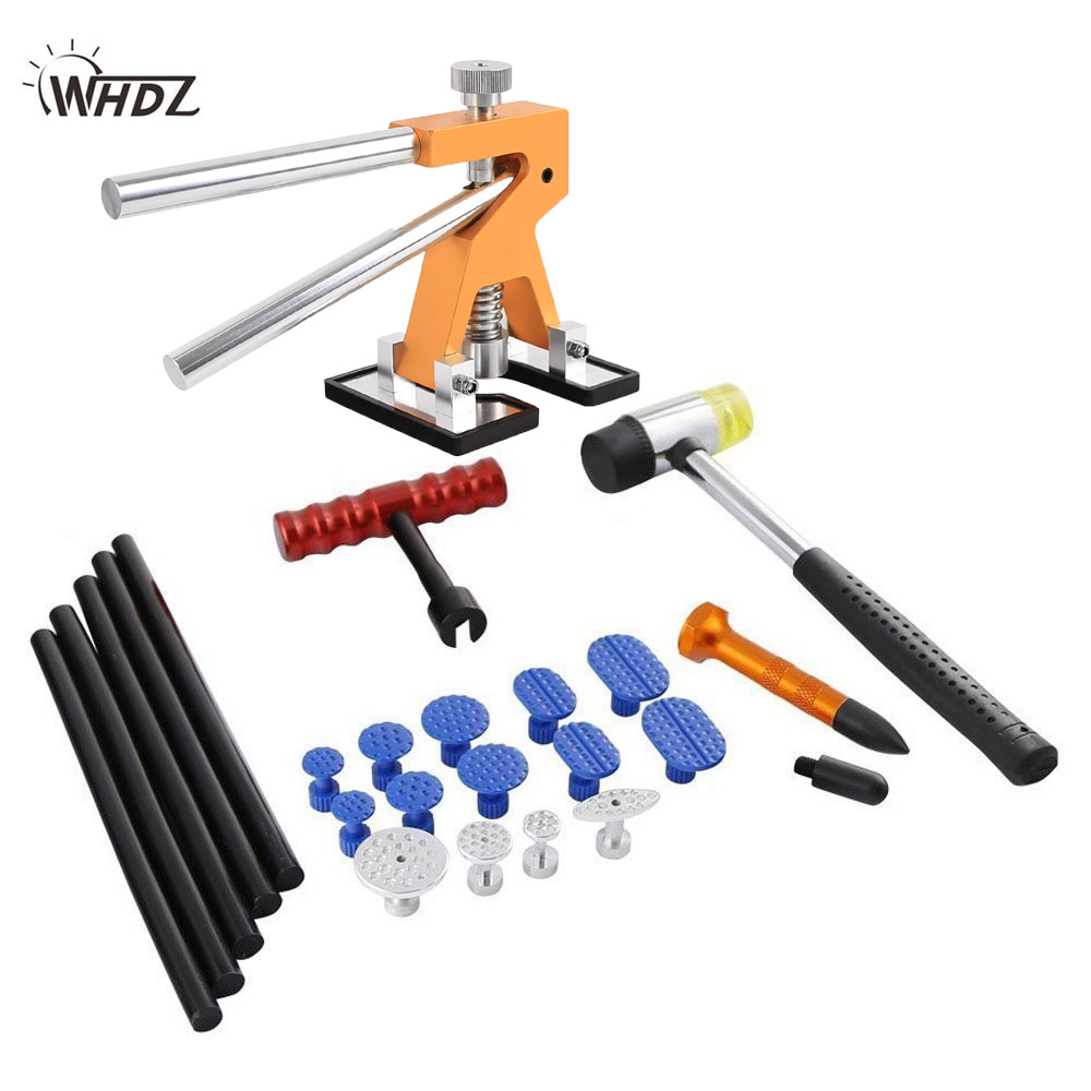WHDZ PDR Tools Kit Dent Removal Dent Repair PDR Lifter Glue Gun Puller Tab Dent Puller Mini Lifter Glue Tabs Suction Cup цена
