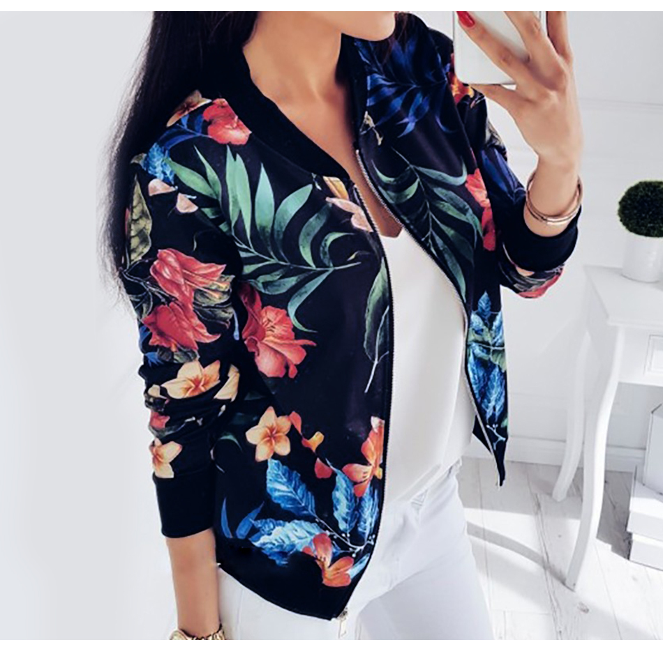 HTB1F6QKKNjaK1RjSZFAq6zdLFXaF Plus Size Spring Women's Jackets Retro Floral Printed Coat Female Long Sleeve Outwear Clothes Short Bomber Jacket Tops 5XL