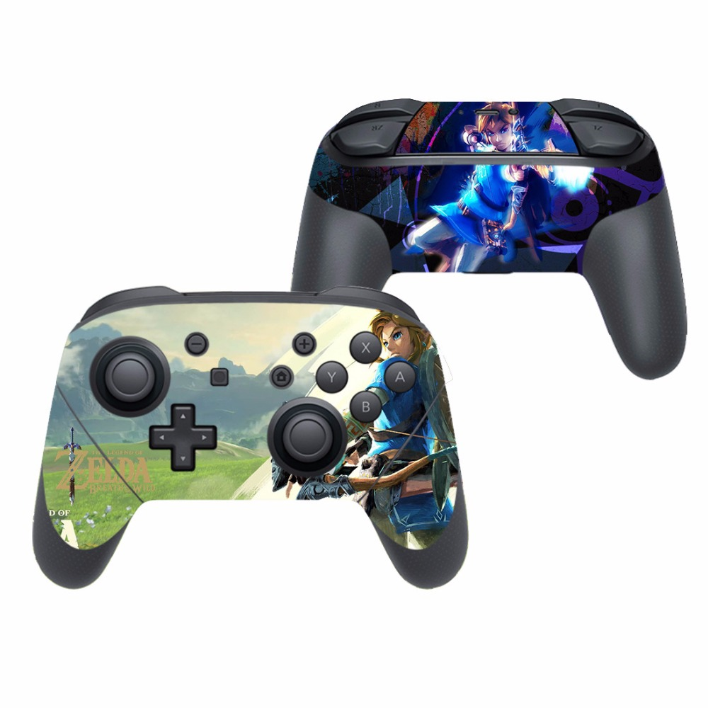 US $3 51 12% OFF|The Legend of Zelda Breath of the Wild Vinyl Cover Decal  Skin Sticker for Nintendo Switch Pro Controller Gamepad Skin Stickers-in