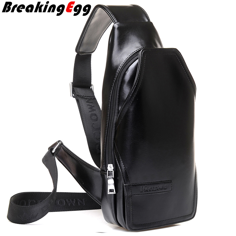 Aliexpress.com : Buy PU leather chest bag men camera sling bag men ...