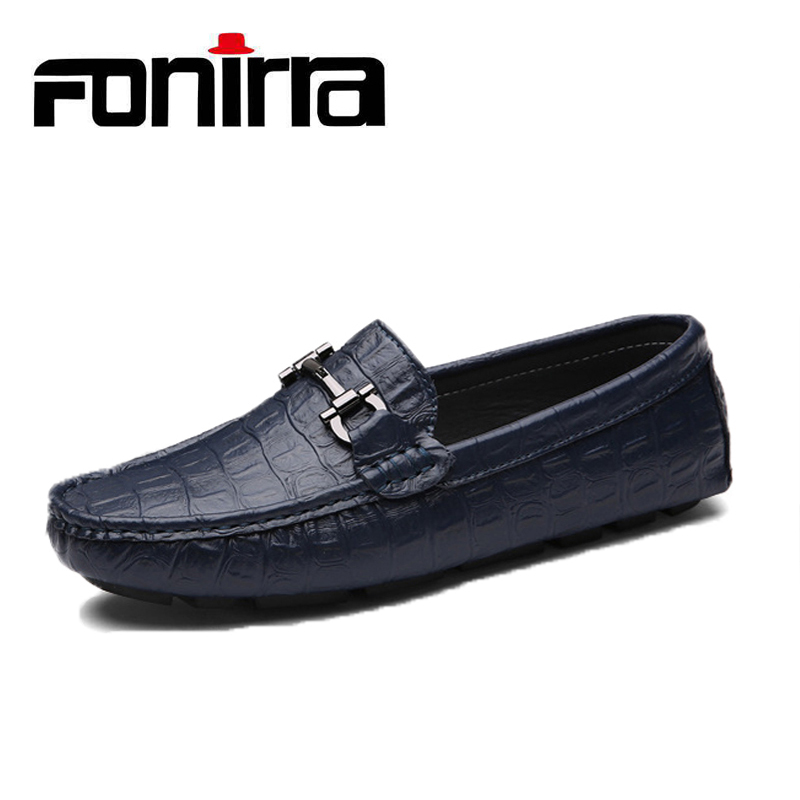 Fashion Men Casual Loafers Shoes Genuine Leather Slip On Male Shoes Breathable Moccasins Flats Men Shoes FONIRRA 804 spring autumn fashion men flats breathable genuine leather moccasins slip on casual shoes male loafers boat shoes 1 9