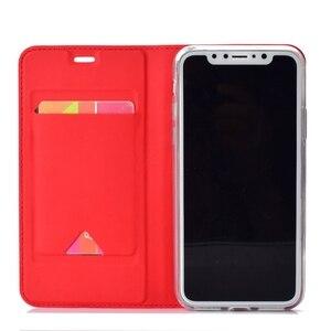 Image 4 - 가죽 커버 아이폰 xr 케이스 coque 고급 자기 전화 케이스에 대한 funda 아이폰 x xs 최대 아이폰 6 6 s 7 8 플러스 케이스 capinha