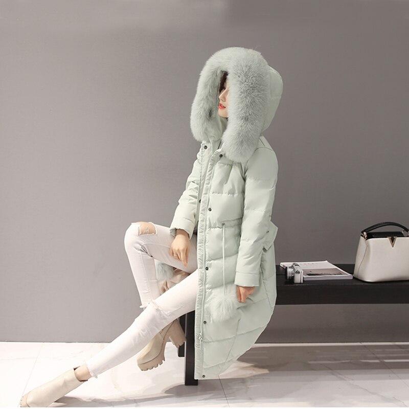 Nouveau Le Plus Outwear Chaud Bas 2018 La Capuchon Fourrure Mince gray Femmes black Vers Vestes Xl Taille Col Longueur Manteau Des Moyen À De Yyj10 Pink green dqUYTx8