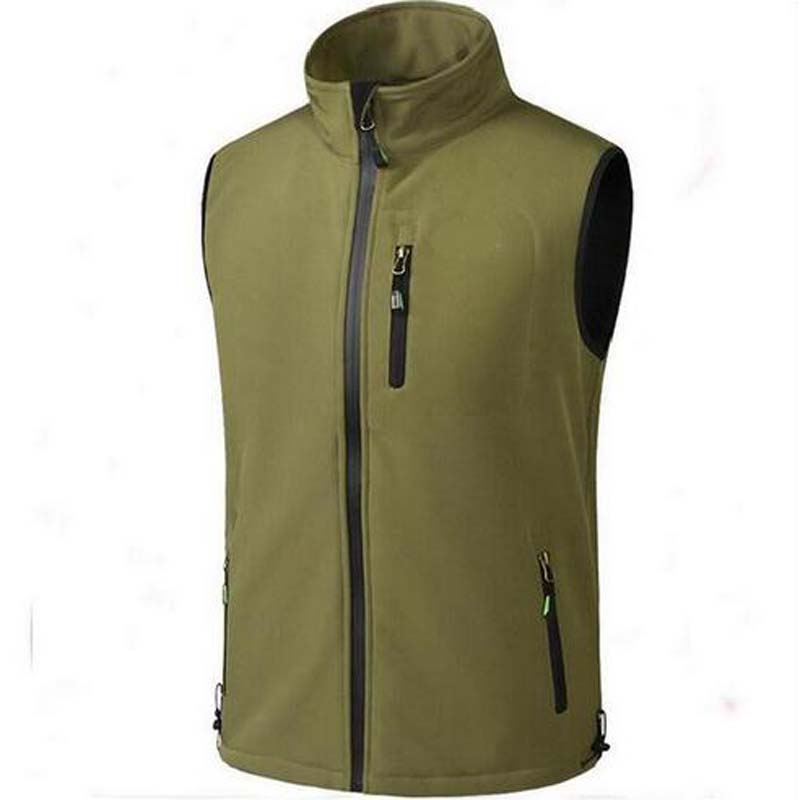 Men's Fleece Vest Outerwear Reporter Vests Sleeveless Waterproof breathable Vest free shipping