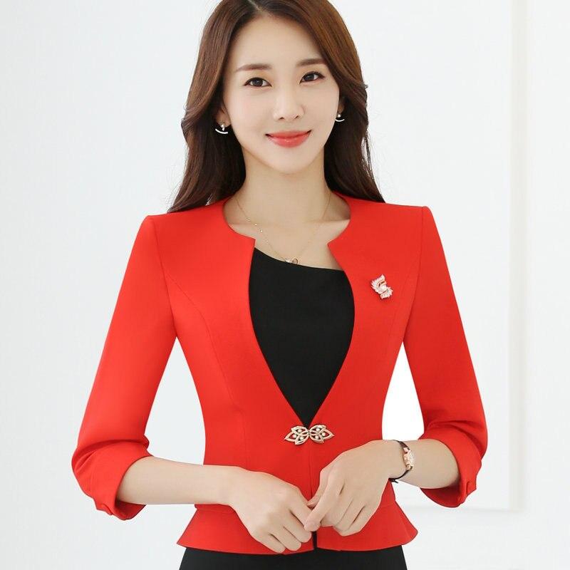 e8fd5ea7835 One Sale HanOrange Single Button Office Lady Plus Size OL Traditional  Classical Half Sleeve Female Women Blazer Jacket White Red S XXXXL-in  Blazers from ...
