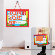 Magnetic Reward Chart Calendar Target Board Kids weekly Schedule Training Responsibility Educational Toys for Children Decor