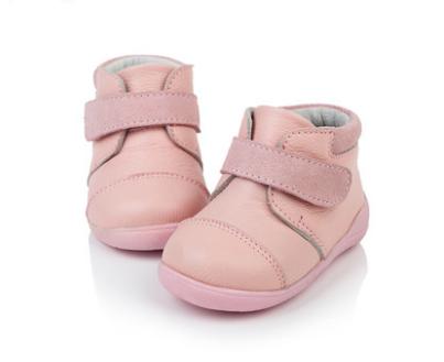 T.S. Recém-nascidos do bebê sapatos de Alta Qualidade Genuine Couro de Vaca Macia Do Bebê meninos Meninas calçados Infantis calçados Hook & Loop Primeiros Caminhantes
