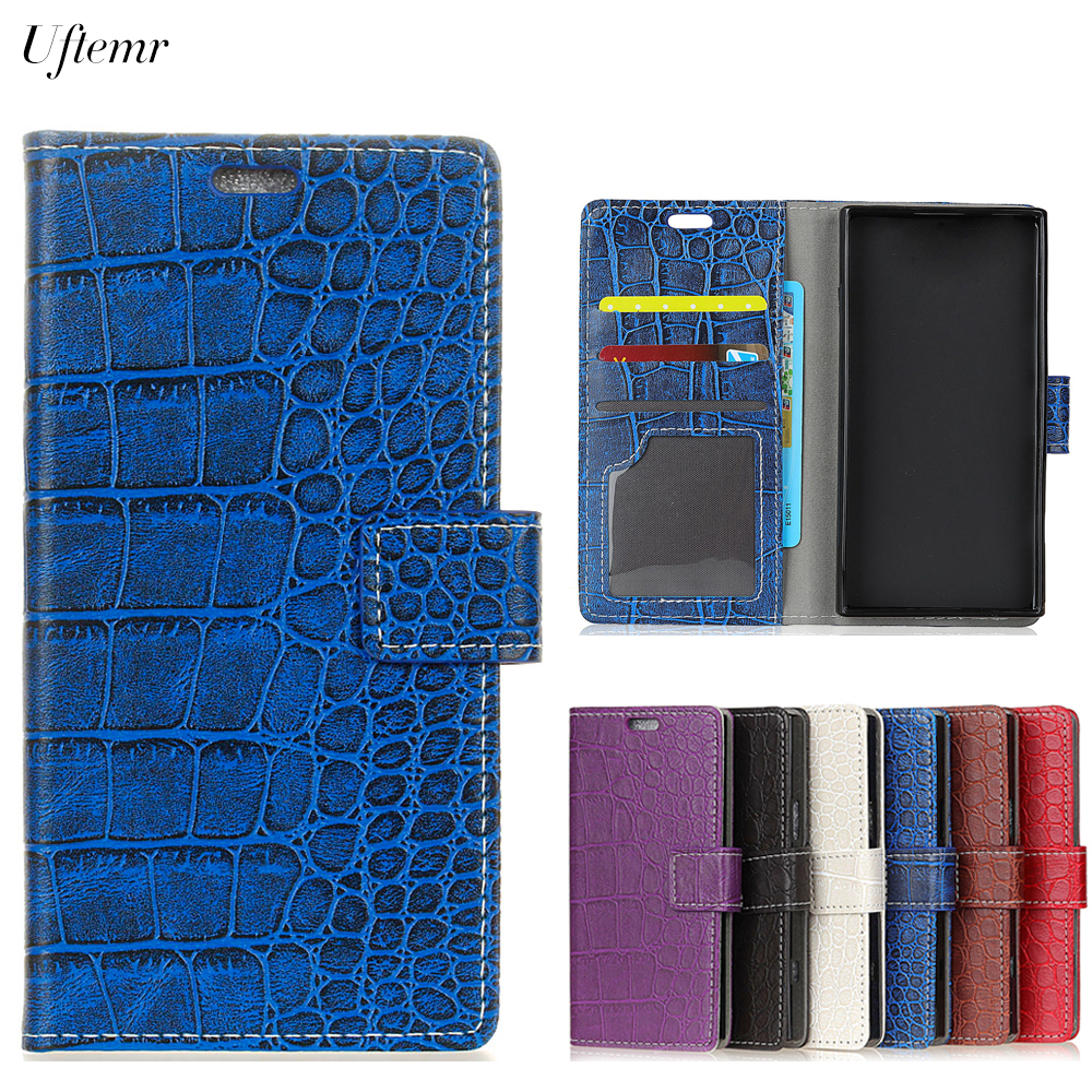 Uftemr Vintage Crocodile PU Leather Cover for Xiaomi Redmi 5 Silicone Case Wallet Card Slot Phone Acessories for Redmi 5