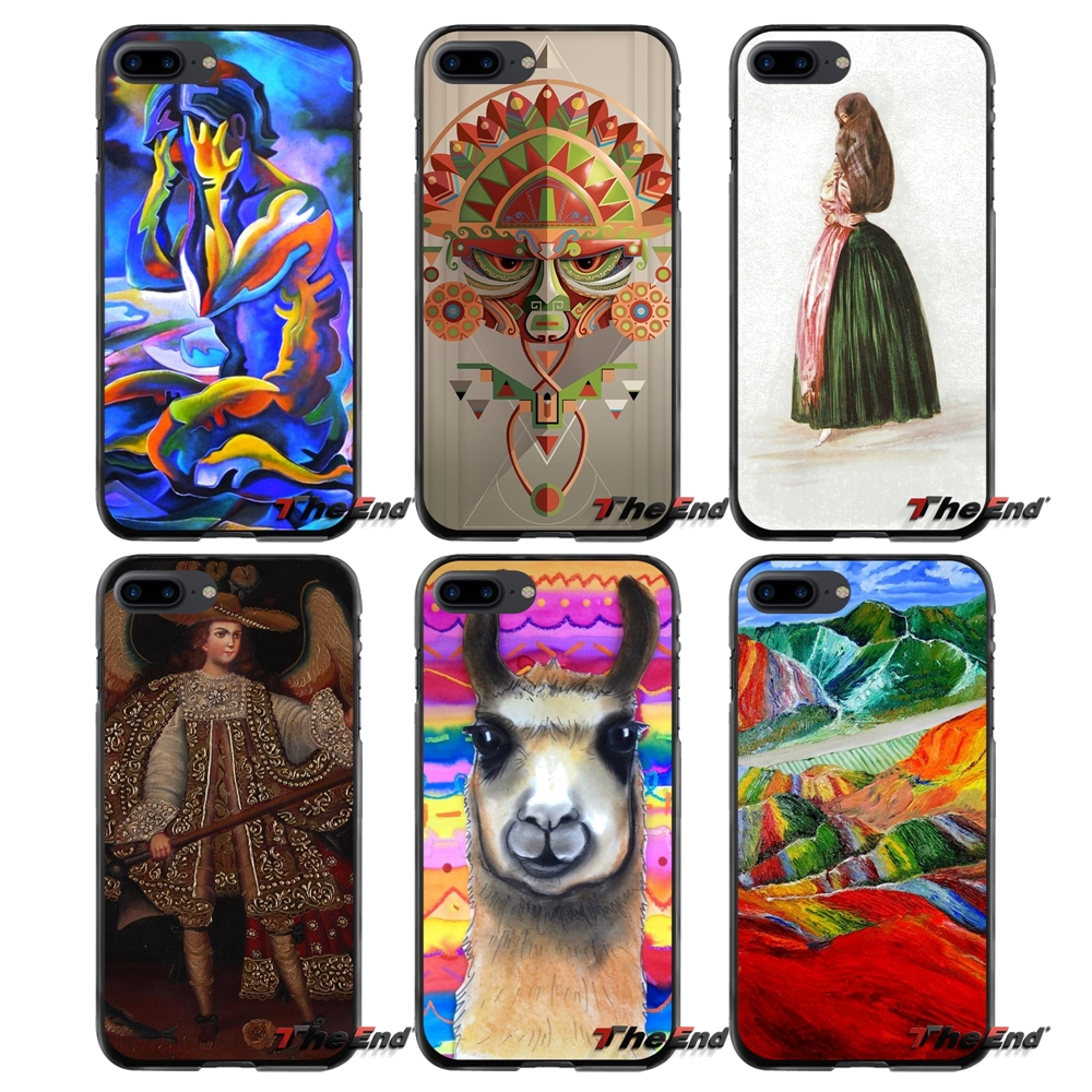 For Apple iPhone 4 4S 5 5S 5C SE 6 6S 7 8 Plus X iPod Touch 4 5 6 Peru art Print Accessories Phone Cases Covers