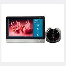 ROLLUP iHome4 WiFi Peephole Door Viewer & Video IP Doorbell 7 Inch Screen IR PIR Door HD Camera Motion Detect Door Bell
