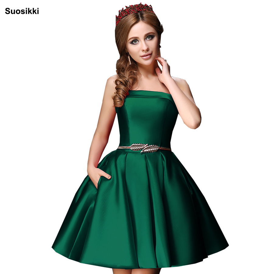 Suosikki Strapless Mini Cocktail Dress 2018 Ball Gown Homecoming Dresses Vestido De Festa Longo Prom Dress