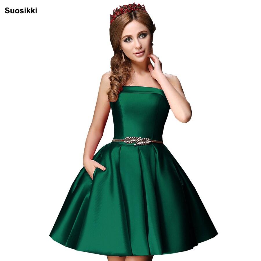 Suosikki Strapless Mini Cocktail Dress 2018 Ball Gown Homecoming Dresses Vestido De Festa Longo Prom Dress