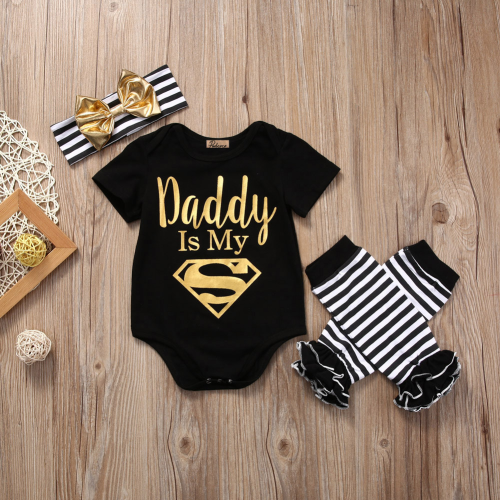 3Pcs Жаңа туған нәресте Toddler Baby Қыздар - Балаларға арналған киім - фото 6