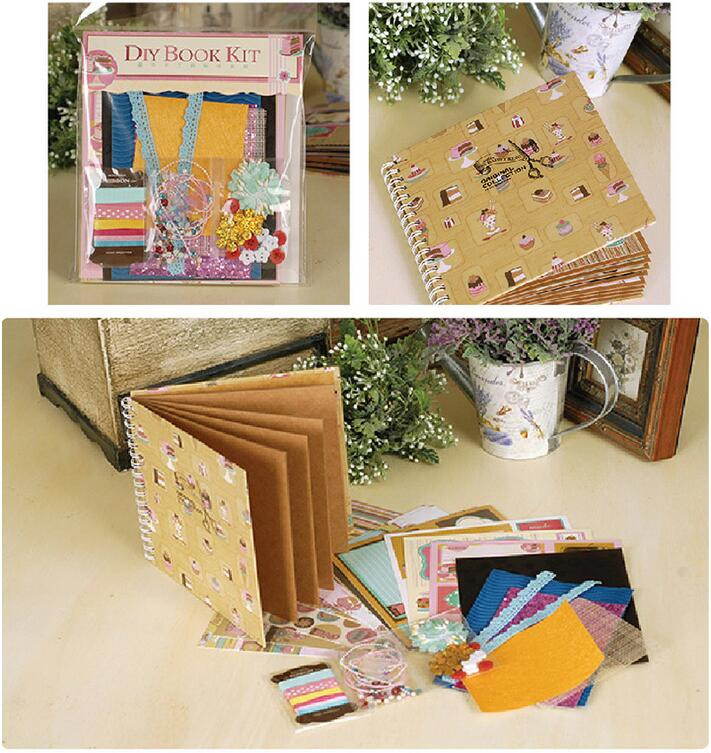 fotoalbum top fashion 2016 best gift diy complete scrapbook kit for family friend kid 8 themes. Black Bedroom Furniture Sets. Home Design Ideas