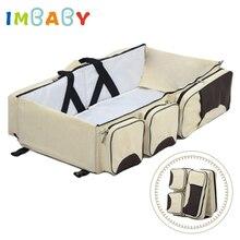 IMBABY раскладушка кровать детское гнездо портативная детская кровать портативная кроватка детская дорожная кровать детская кроватка гнездо для новорожденных Детская переносная кроватка