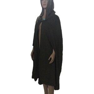 Image 5 - Casaco com capuz medieval feminino, fantasia vintage gótica com capa sobretudo 2020