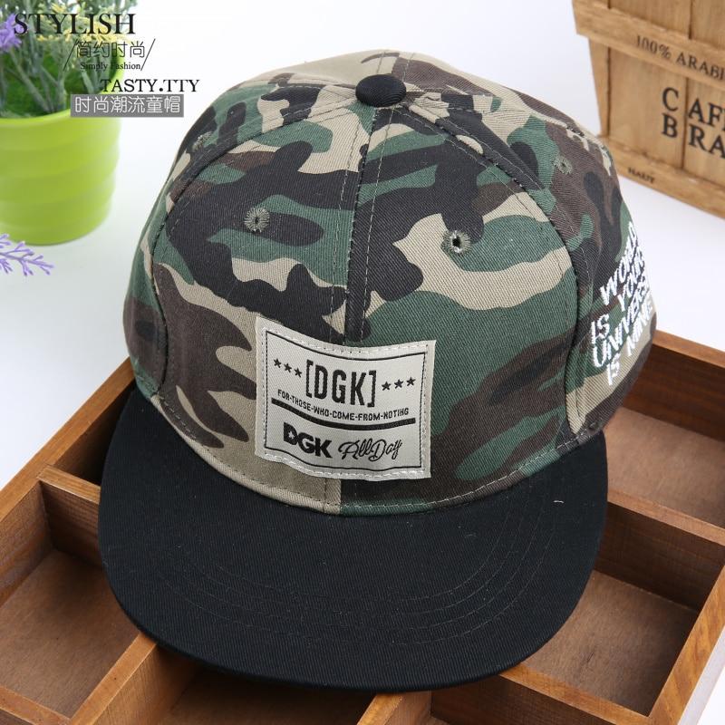Fashion Snapback Camouflage Baseball Cap for Kids Sports Cap Hip Hop Hat Trucker Bone Hat Snapback Street Cap Sun Hat