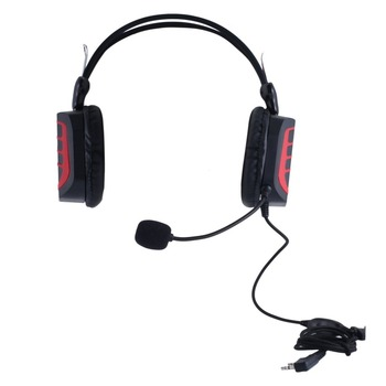Advanced Intercom Headphone Volume Adjustable Vox-ptt Tactical Headphone With Glowing Lights For Baofeng For Kenwood