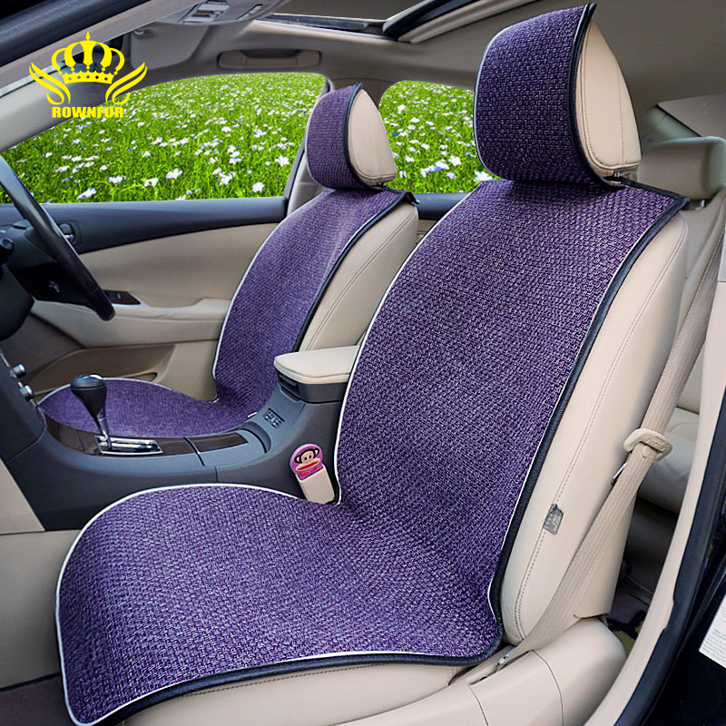 2pcs or 1set Car Seat Covers Universal Compatible with 100 vehicles Flax Fabrics Car Seat Cushion