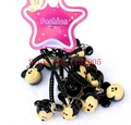New 50 pcs Cartoon Mickey  Pendant  DIY Key Chains With Bell 1-2cm  Bag Pendant Gifts Favors Free Shipping LD-10